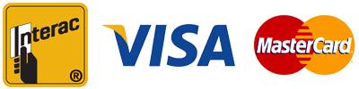 Logos Interac Visa Mastercard